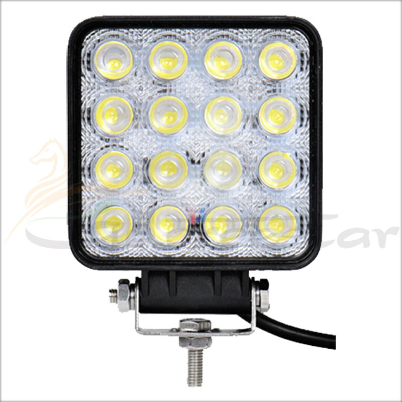 48W Spot Lamp Flood Beam 12V 24V Led Work Light Boat 10-30V Tractor Truck Offroad SUV 4WD Car SUV ATV UTE 1pc 4d led light bar car styling 27w offroad spot flood combo beam 24v driving work lamp for truck suv atv 4x4 4wd round square