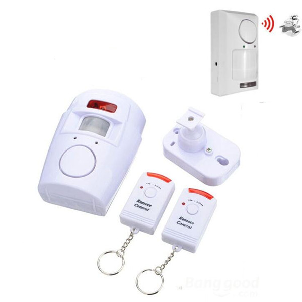 Home Security Alarm door Sensor defensie alarm Wireless Infrared Sensor Motion Detector Anti-theft Alarm system+2 Remote Control hzsecurity electromagnetic system em library anti theft system one aisle