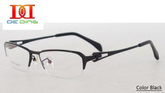 cd1915116d3b Titanium Semi-rimless Fashion Glasses For Men Spectacles Myopia Degree Men Super  Light Weight Eyeglasses