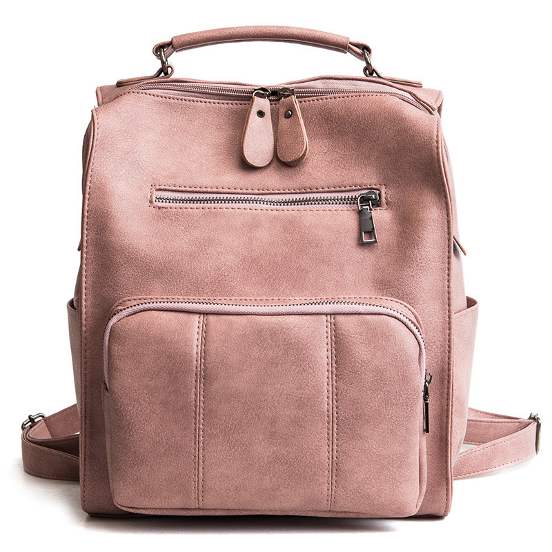 2018 New British Academy style womens backpack fashion leather double shoulder bag large capacity casual bag2018 New British Academy style womens backpack fashion leather double shoulder bag large capacity casual bag
