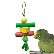 Little Pet Bird Toy Chew Bite-resistant Colorful Squirrel Double-layer Swing Climbing Ladder bird toys parrot