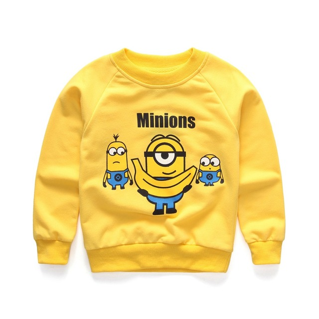 7128c6a60 Autumn Minion Baby Sweatshirt Kid Long Sleeve Clothing Unisex Baby ...
