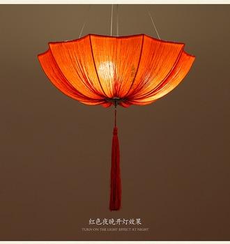 Chinese cloth classical imitation cloth umbrella pendant lamp lantern Restaurant balcony aisle Club Creative umbrella ZS136