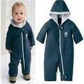 Verde Zipper inverno da criança do bebê crescer Bodysuit Romper macacão Outfit Snowsuit