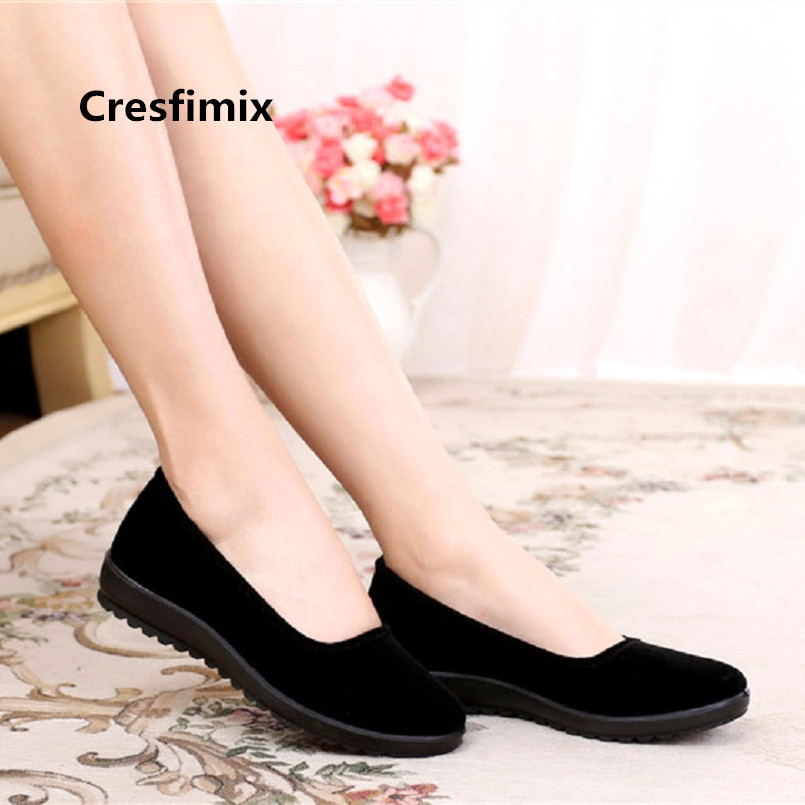 Zapatos De Mujer Women Cute Comfortable Spring Slip on Flat Shoes Lady Fashion Sweet Black Shoes Cool Street Flat Shoes E3196
