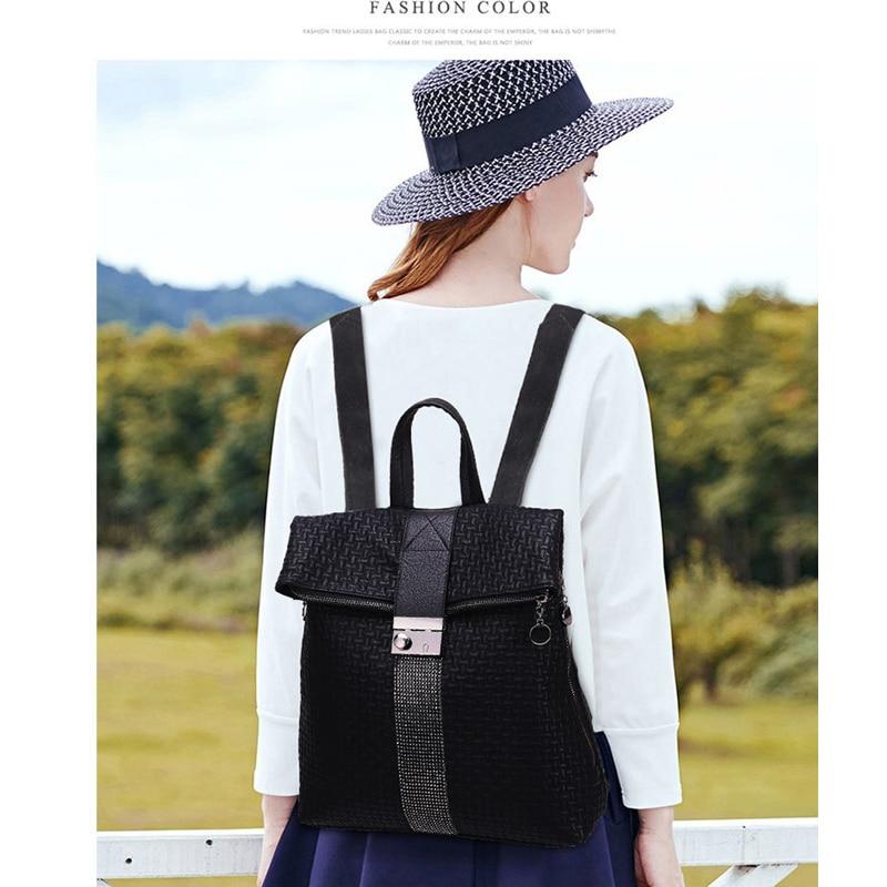 Lurxury Brand Designer Female Backpack Fashion Women Shoulder Bag PU Leather Large Capacity Travel Bag Anti-theft Bolsa Sac