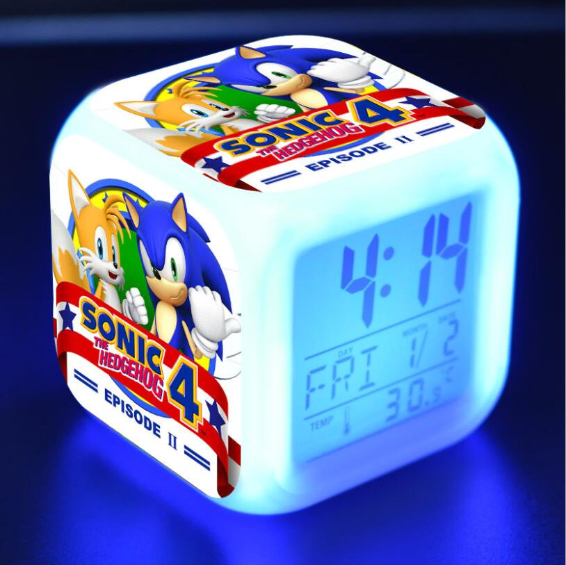 Sonic The Hedgehog LED Cube Alarm Clock 25