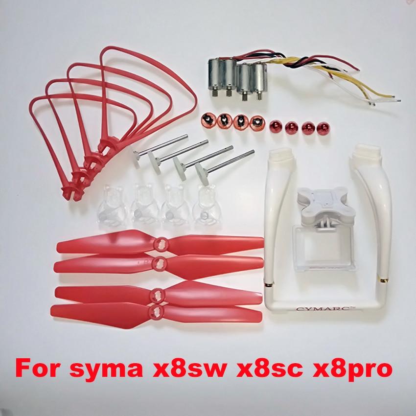 SYMA X8SW x8sc X8PRO X8 Pro RC Drone Propellers Landing Gear Motors Engine Base Spare Parts Upgrade landing skid gimble qr x350 pro z 03 landing skid spare parts