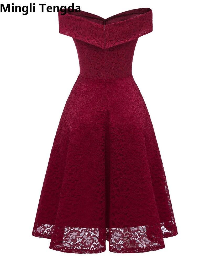 venta usa online apariencia estética gran variedad de € 32.03 40% de DESCUENTO|2018 Vestidos Rojos de dama de honor Vestidos  cortos para fiesta de boda Vestido Formal mujeres vestidos de dama de honor  ...