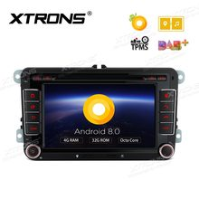 "7"" Android 8.0 Car DVD Multimedia Navigation GPS Radio for VW Vento T5 Transporter Multivan Tiguan Touran Sharan Magotan Golf(China)"