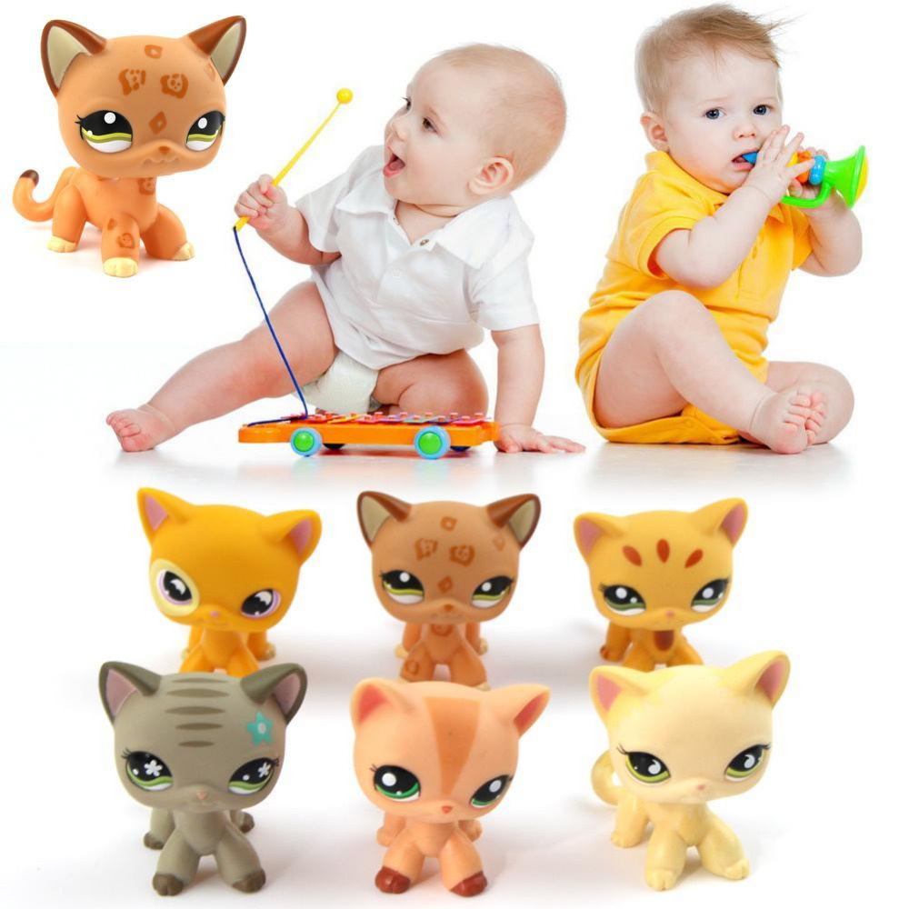 Lovely Cat Action Figure Toy PVC Cute Collection Birthday Halloween Christmas Gift toy for Kids Children Adults lps toy pet shop cute beach coconut trees and crabs action figure pvc lps toys for children birthday christmas gift