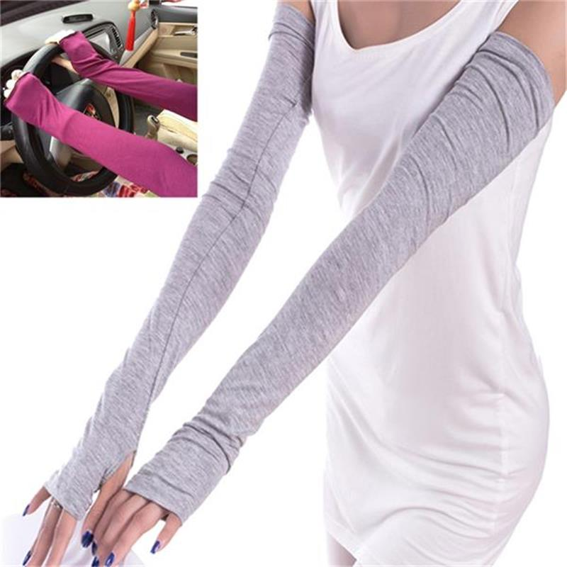 Women Cotton Ladies Fashion Long Arm Sleeves Sunscreen Riding Gloves Summer Arm Warmers