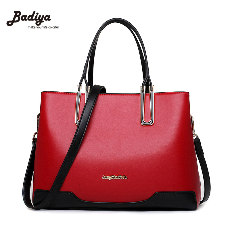 2017 New Korea Style Women Leather Handbag Famous Designers Brand Bag Fashion Luxury Shoulder Messenger Bags Patchwork Lady bags