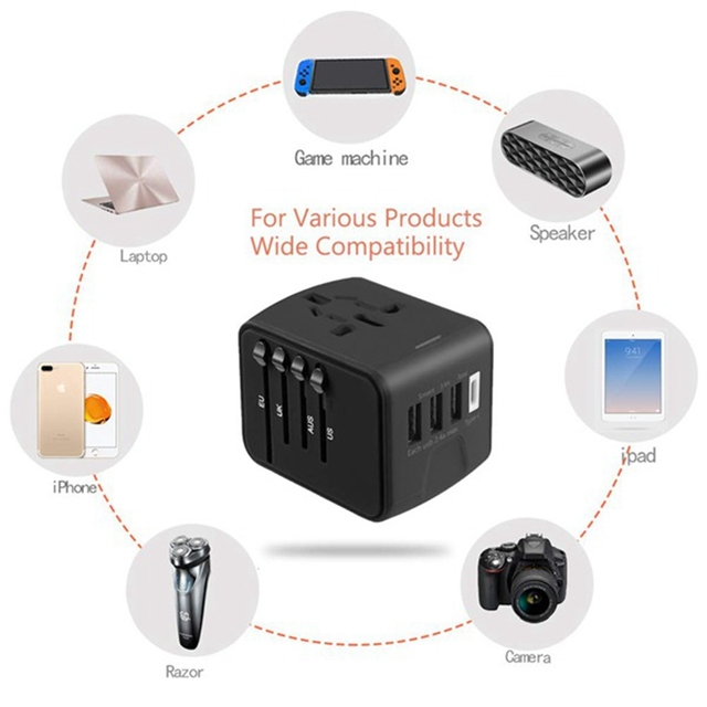 Travel adapter Universal Power Adapter Charger worldwide adaptor wall Electric Plugs Sockets Converter for mobile phones