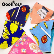 Cartoon Pattern Style Pet Collar Dog Scarf Classic Bandanas for Small Dogs Adjustable Cats