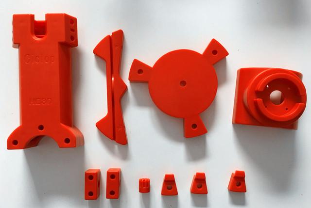 Open source DIY ciclop scanner 3d de peças de plástico, obra nova moldagem por injeção de plástico