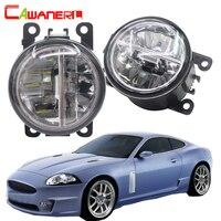 Cawanerl For Jaguar XK J43 2006 2013 Car LED Bulb 4000LM Fog Light DRL Daytime Running