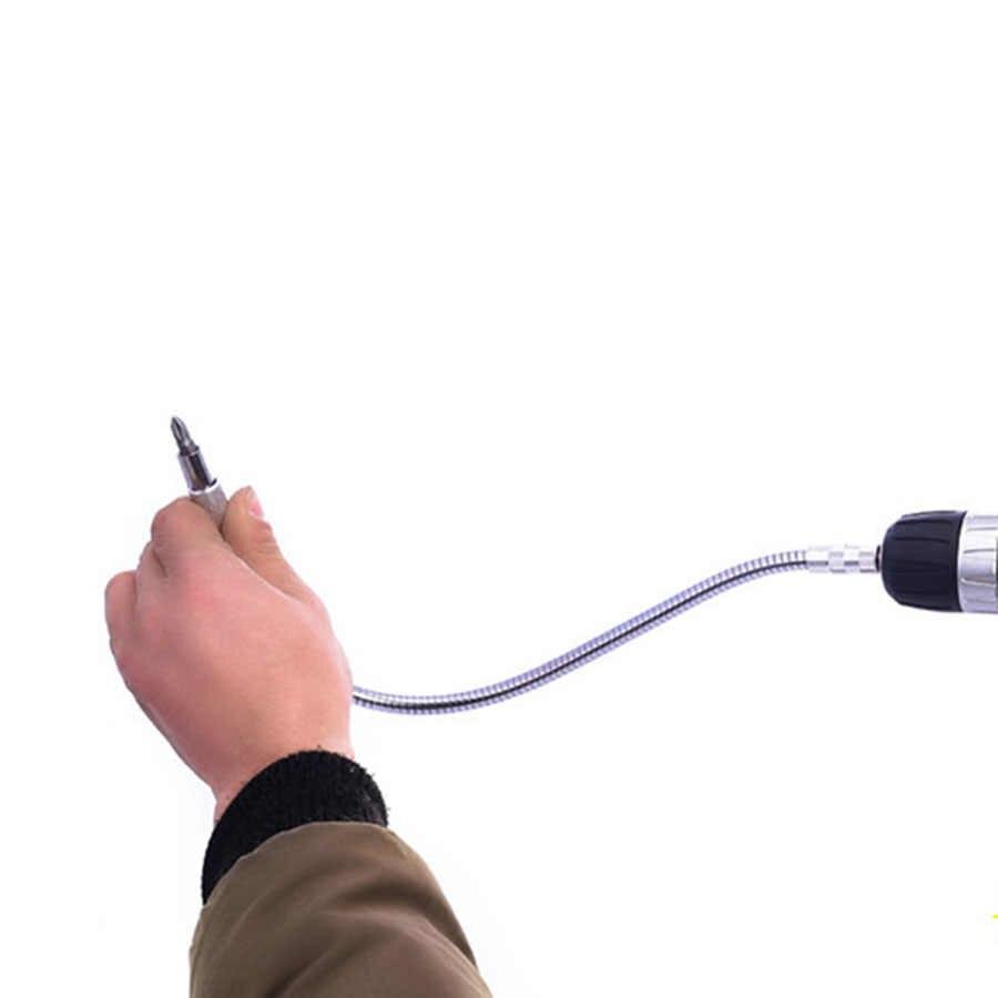 Broca de eixo flexível 150- 400mm, metal, furadeira, suporte de ponteira, conectar link, extensão de haste hexagonal, broca de cobra