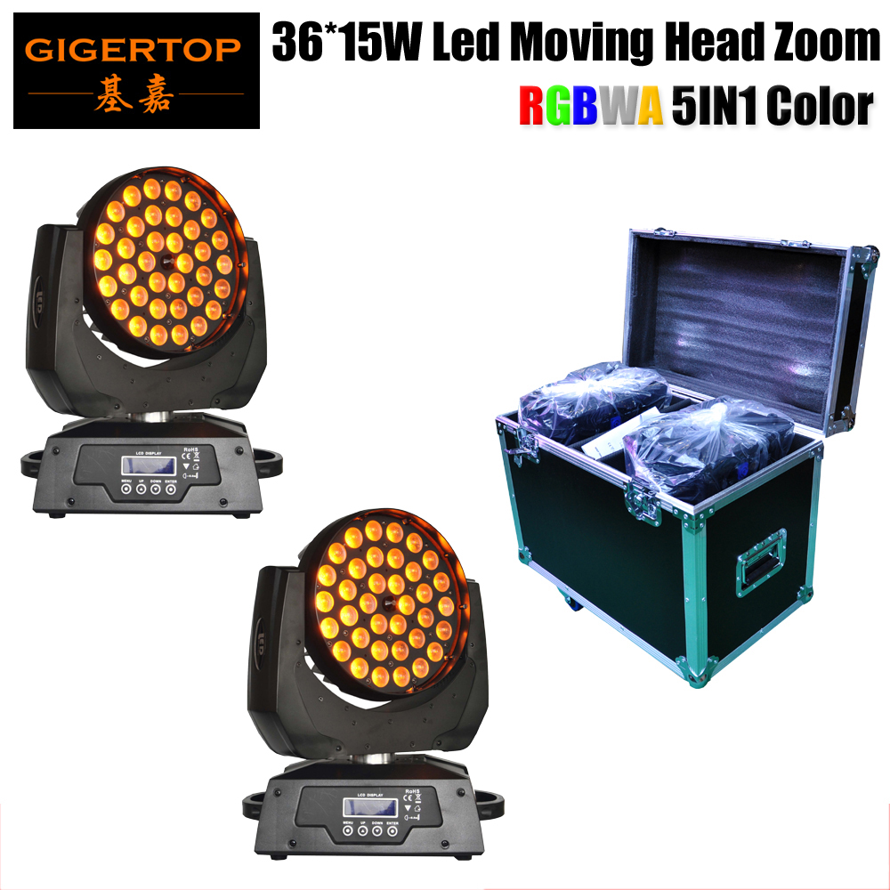 LED Moving Head 36X15W Beam+Wash+Zoom Moving Head Light RGBWA 5IN1 Pack + 2in1 Flight case|Road case|Rack case|China flight case цены онлайн