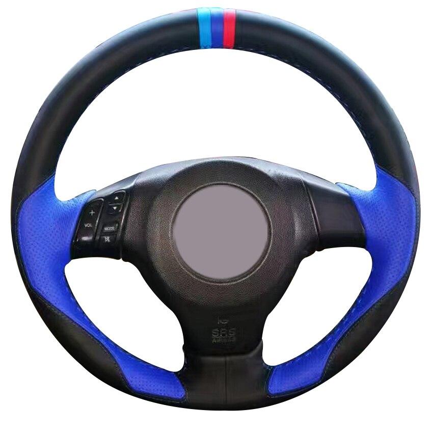2003 2008 Mazda 6 Wheels For Sale: Black Leather Blue Leather Car Steering Wheel Cover For Mazda 3 Axela 2003 2009 Mazda 5 2004