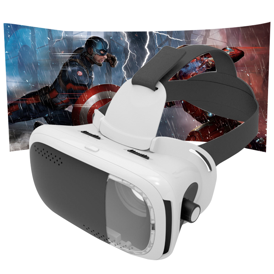 VR Glasses Virtual Reality Goggles Google Cardboard VR Headset for 4.7-6.0 inch Smartphone 3D 360 panoramic video Adjustable VR