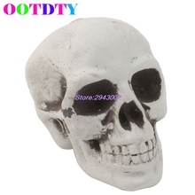 Skull Decor Prop Skeleton Head Plastic Halloween Day Coffee Bars Ornament APR12_30