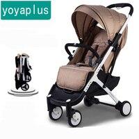 Бренд новорожденных детская коляска свет складной для 4runner шок автомобиль зонтик четыре сезона вообще подарок для малышей yoya плюс коляска