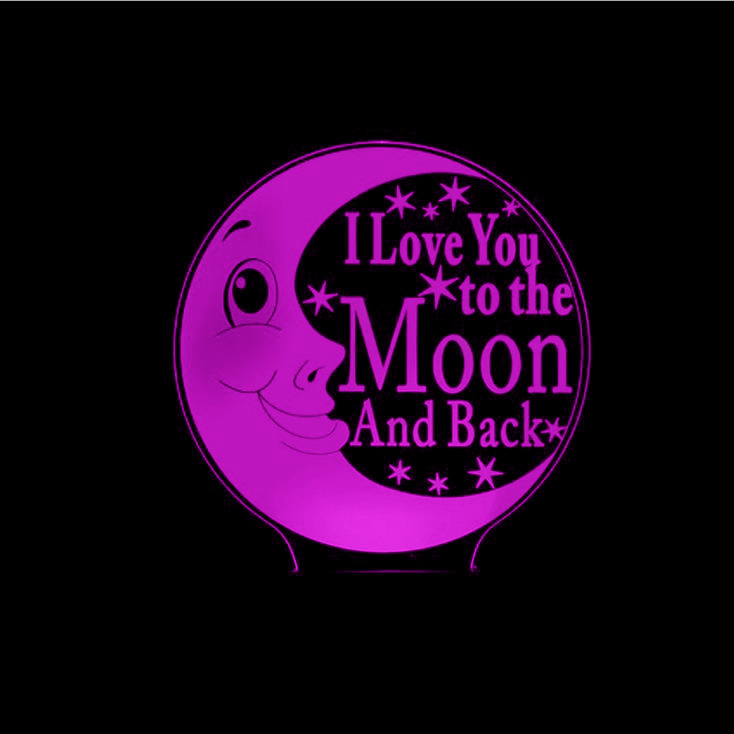 Lovely Moon 3D Night Light LED I Love You Romantic Atmosphere Lamp LED Usb Wedding Table Lamp 7 Color Changing Night Lamp ...