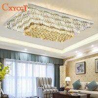 Современные светодиодные k9 хрустальные люстры для Гостиная Спальня для внутреннего освещения, Хрустальная потолочный светильник