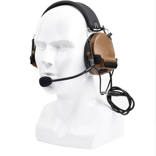 New Z TAC Comtac III Headset C3 Dual Channel Pickup Noise Reduction Headset Airsoft Hunting Earphone