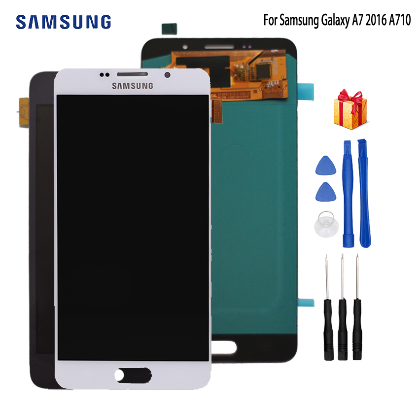AMOLED LCD for SAMSUNG Galaxy A7 2016 LCD Display A7100 A710F A710 LCD Touch Screen Digitizer Replacement For Samsung A710 LCDAMOLED LCD for SAMSUNG Galaxy A7 2016 LCD Display A7100 A710F A710 LCD Touch Screen Digitizer Replacement For Samsung A710 LCD