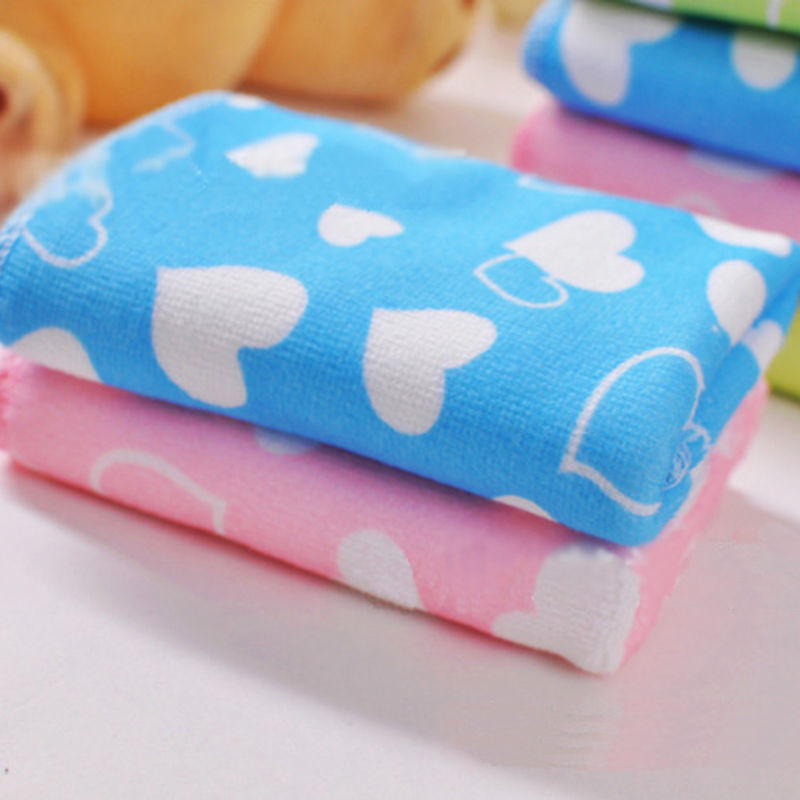 1 6Pcs Baby Soft Microfiber Square Small Towel Cartoon Towel Portable Dry Children Face Towel Bath Beach Cleaning Towel in Towels from Mother Kids
