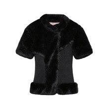 2016 New Fall Winter Coat Women Faux Fur Coat Imitation Mink Fur Coat Jacket High Quality Ladies Black Overcoat Outerwear CT202