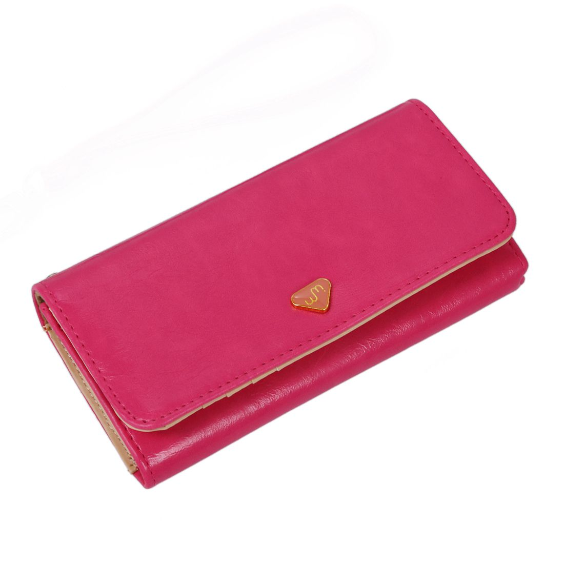 ASDS New Fashion Leather Women Wallet Travel Credit Card Package ID Storage Bag-rose red набор тарелок мелких 6 шт 25см форма сабина 0158 фарфор leander 655471