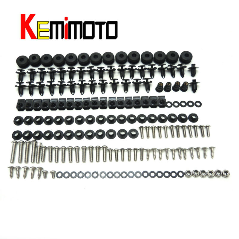 2008 2009 2010 YZF R6 Motorcycle Complete Fairing Bolts Screws Nut Kit  For Yamaha YZF R6 2008 2009 2010 One Set New