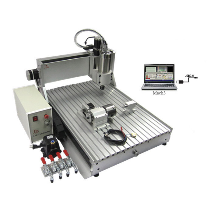 CNC Router Engraving Drilling and Milling Machine 6040Z-VFD1.5KW 4axis USB or Parallel port air cooling spindle mini ly 300w cnc router 6040 drilling and engraving machine for wood pcb ar and acrylic milling and cutting