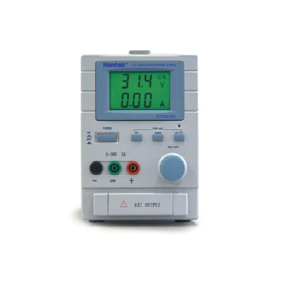 Hantek HT3003PE 1 Channel, 0-30V Output; 0-3A Current Output; LCD Display To Show Regulated Voltage And Current 220-240V