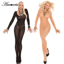 Hot Sexy Lingerie Bodysuit Sexy Costumes Women Bodystocking Open Crotch Sex Products Erotic Lingerie Stockings