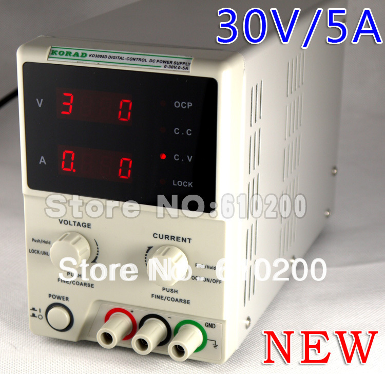 Wholesale New upgrade KORAD KD3005D High precision Adjustable Digital DIGITAL-CONTROL DC POWER SUPPLY 0-30V/0-5A 1mA new digital 6 30