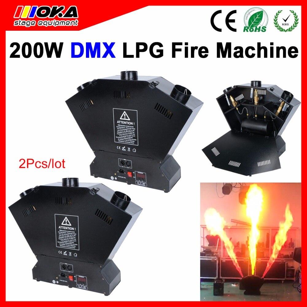 2 шт. Стадия LPG пожарная машина, машина пламени спрей пожарная машина dmx пламя Проекторы 3 м высота высокого качества