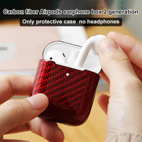 Carbon Fiber Hardshell Case Protection Box Compatible with Apple Airpods 2 GDeals