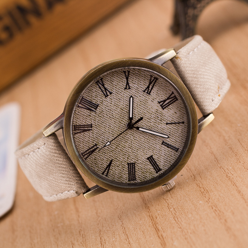 2018 New Design Canvas Quartz Watches Women Men <font><b>Unisex</b></font> <font><b>Fashion</b></font> Casual Antique <font><b>Leather</b></font> Sport Dress Watch Wristwatches Clock Gifts image