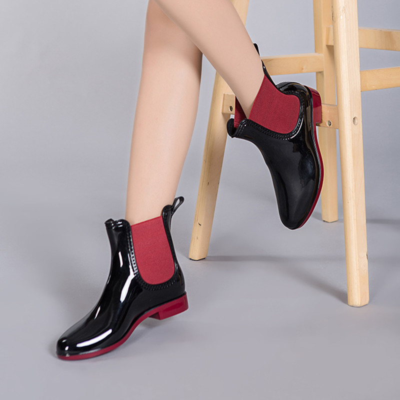 Aliexpress.com : Buy Fashion Low Heel Rain Boots Women 2016 ...