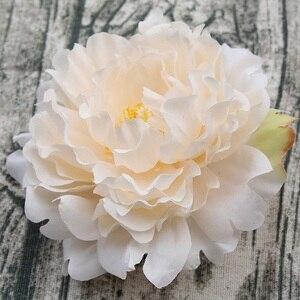 Image 4 - 15pcs/lot 13cm Artificial Happy Peony Silk Flowers Fake Flores Artificiais Wedding Party Decoration Home DIY Landscape Wholesale