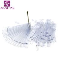 Groothandel 100 packs/set Natural Plastic Fals Nail Art Tips Stick Display Praktijk Fan Board & Nail Art Display 50 stks