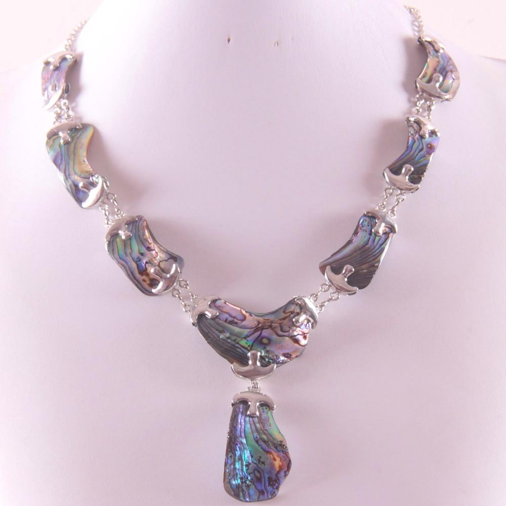 Ожерелье из натурального цинкового сплава с бусинами в виде ракушки абалона из Новой Зеландии Бесплатная доставка E839