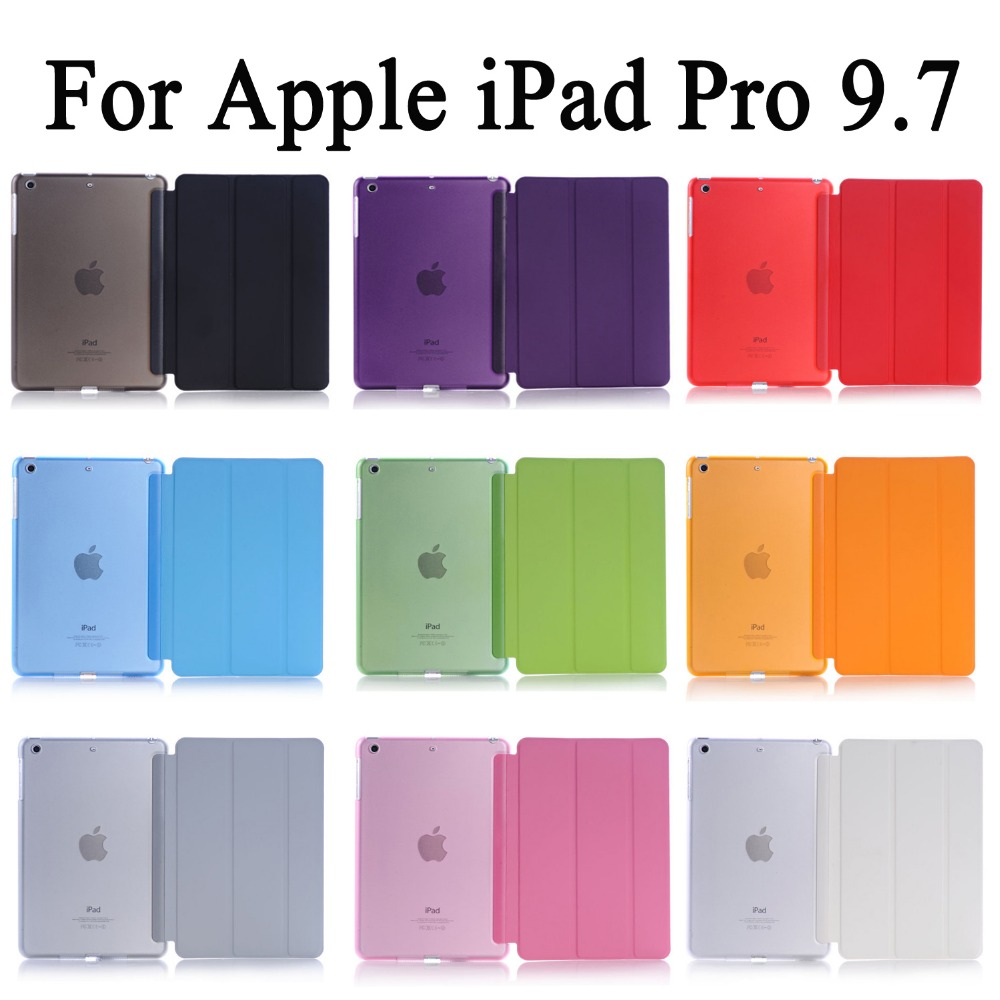 Apple iPad Pro 9.7 ұйқы үшін Wakup Ultra жұқа былғары Smart Case Case үшін A1673 / A1674 / A1675