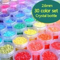 2.6mm 30 bottle/lot 1lot=14000pcs 30color PUPUKOU hama bead education kid diy toy tweezer fuse iron paper kit craft pegboard