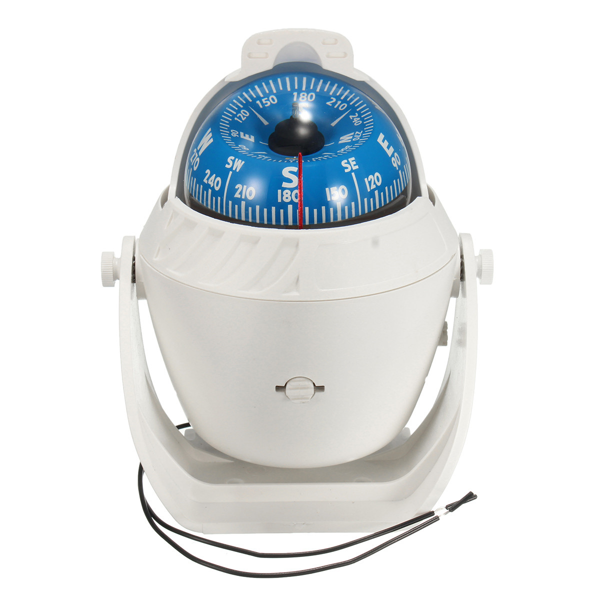 White ABS Macromolecule Plastic LED Light Digital for Compass Magnetic Sphere <font><b>Marine</b></font> Military Electronic Boat Car for Compass