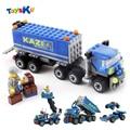 New Arrival 163pcs Transport Dumper Truck Model Building Blocks Can Build 8 Shapes Educational Toys Kids Gifts Wholesale